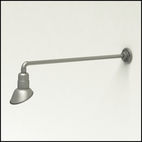 """Gooseneck Light Aluminum - 37.5"""" W, Arm - with 7in. Angle Shade"""