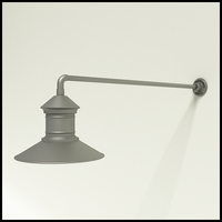 "Gooseneck Light Aluminum - 37.5"" x 3/4"" Dia. Arm with 16"" Barn Light Shade"