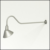 "Gooseneck Light Aluminum - 48.25"" W x 9"" H, Arm - with 12in. Angle Shade"