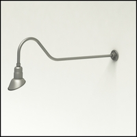 """Gooseneck Light Aluminum - 48.25"""" W x 9"""" H, Arm - with 7in. Angle Shade"""