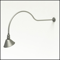 "Gooseneck Light Aluminum - 54.25"" W x 16"" H, Arm - with 10in. Angle Shade"