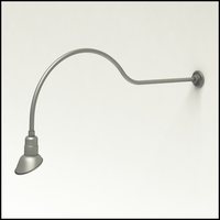 """Gooseneck Light Aluminum - 54.25"""" W x 18"""" H, Arm - with 7in. Angle Shade"""