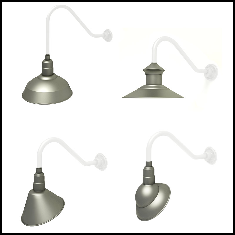 Commercial gooseneck lighting outdoor gooseneck light fixtures gooseneck lighting by shade style click to enlarge aloadofball