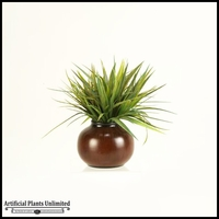 12in. Grass in Round Ceramic Planter