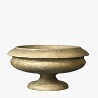 Greco Bowl Cast Stone Planter 24in.D x 12in.H