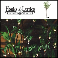 Green Leaf Lighted Accent Branch