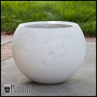 Halley Weathered Stone Sphere Planter 20in. Dia. x 16in. H
