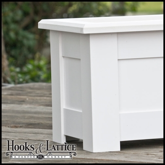 "Hampton Deck Planter w/ Feet 36""x12""x12"""