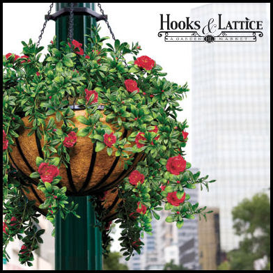 Artificial flowers in hanging baskets faux flower hanging baskets hanging baskets with artificial flowers click to enlarge mightylinksfo