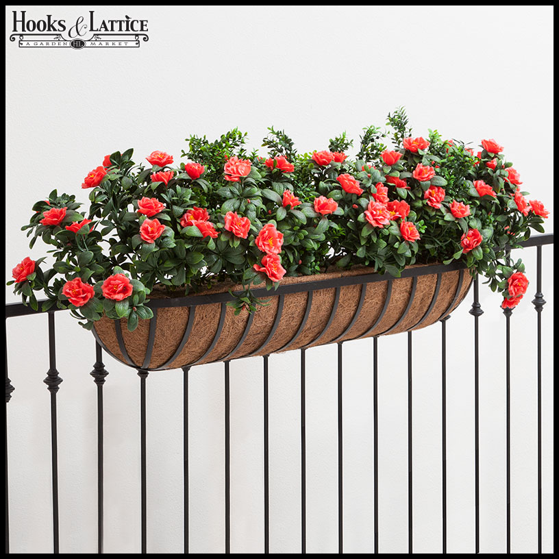 Planters For Deck Railings Hayracks Hooks And Lattice