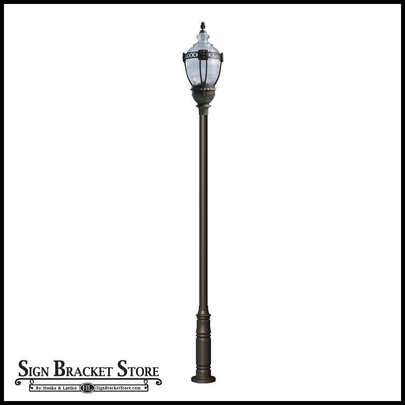 Vintage design lamp post high output hid click to enlarge aloadofball Image collections