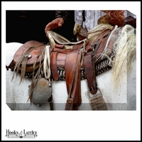 Horse Saddling - Canvas Artwork