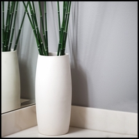 Horsetail Reed Arrangement in Convex Cylinder Vase