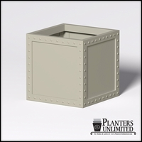 Hughes Riveted Fiberglass Square Planter 30in.L x 30in.W x 30.inH