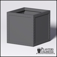 Hughes Riveted Fiberglass Square Planter 36in.L x 36in.W x 36.inH