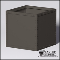 Hughes Riveted Fiberglass Square Planter 48in.L x 48in.W x 48.inH