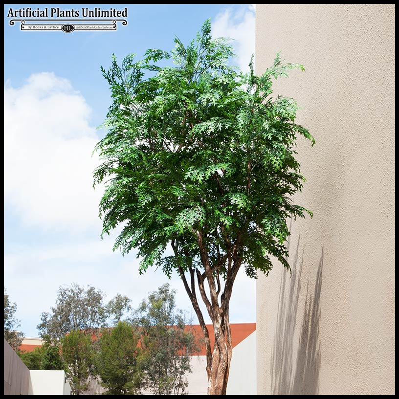 inherently fire retardant pin oak tree Artificial Outdoor Trees