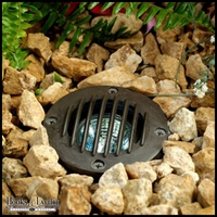 In-Ground LED Well Light with Grill and MR16-LED Lamp - Bronze