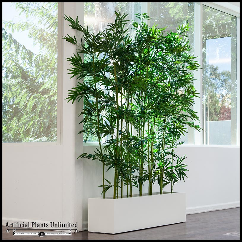 Indoor Artificial Bamboo In Modern Planter Click To Enlarge