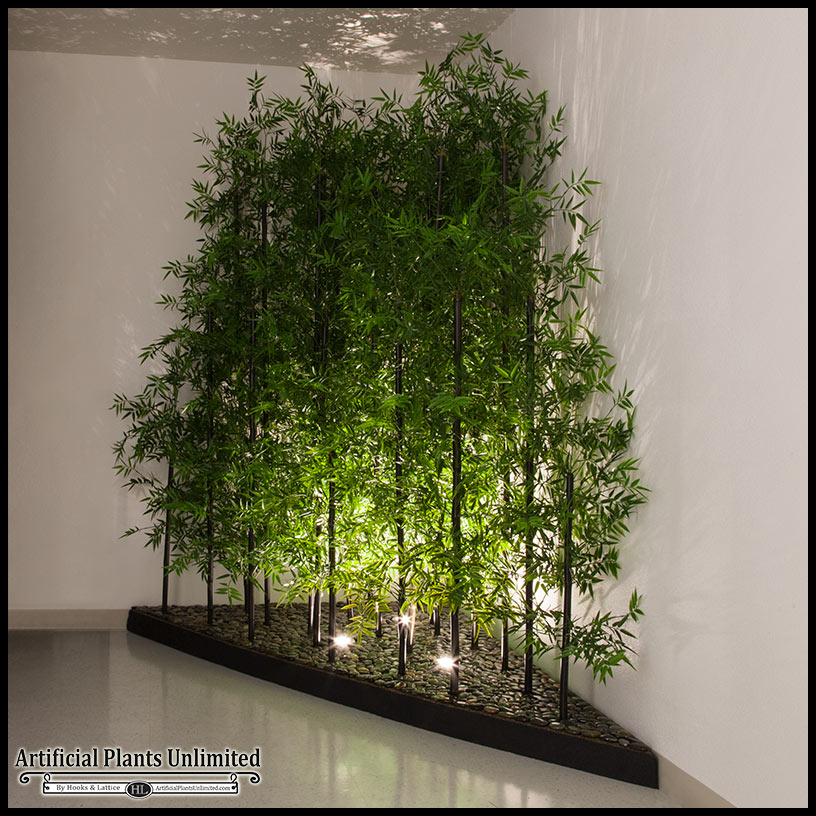Tree Inside The House Interior Climate Controlled: Indoor Artificial Bamboo Plants & Trees