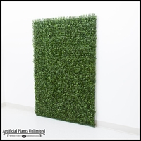 Plush Japanese Boxwood Indoor Artificial Living Wall 48inL x 48inH