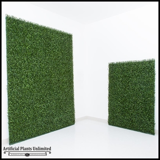 Japanese Boxwood Indoor Artificial Living Wall 48inL x 48inH