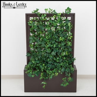 Indoor Silk Algerian Ivy in Trellis