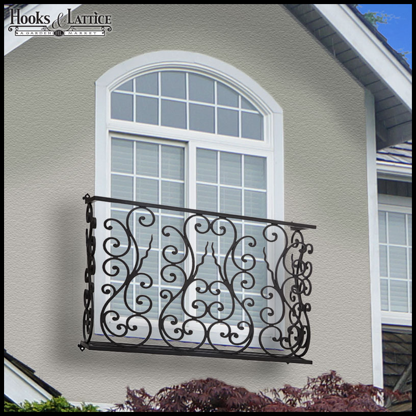 Home accents and hanging home decor hooks and lattice for Balcony wall decoration
