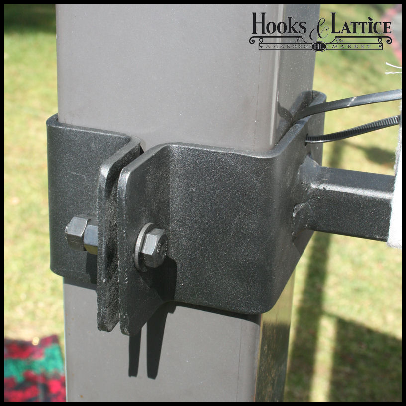 Clamp On Flag Pole Holder : Iron straight arm banner brackets