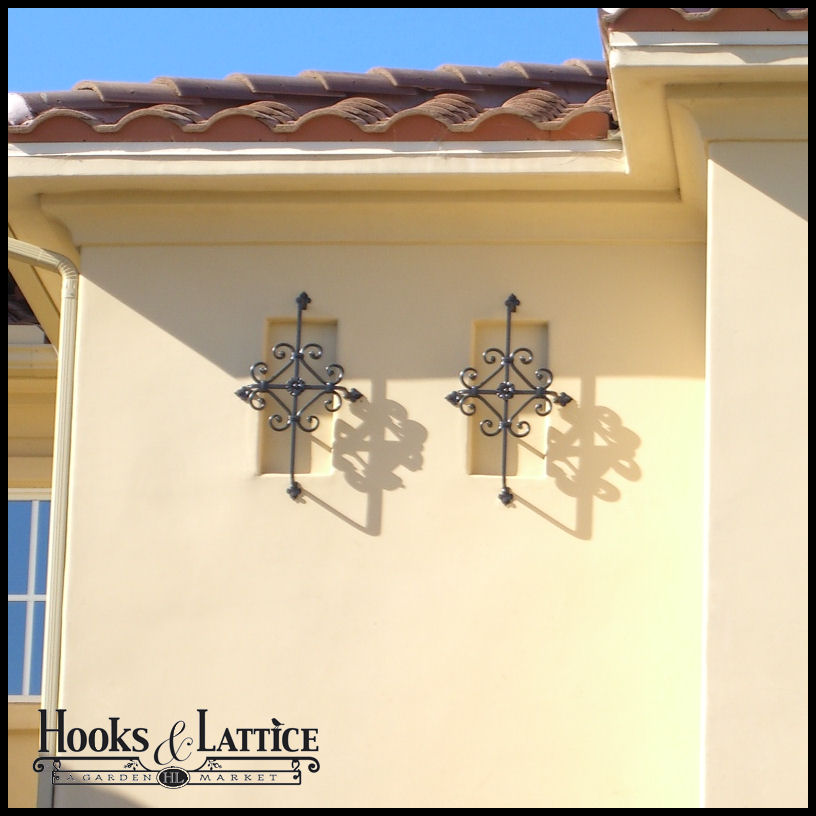 Click to enlarge  sc 1 st  Hooks \u0026 Lattice & Decorative Iron Window Grills \u0026 Accents | Hooks \u0026 Lattice