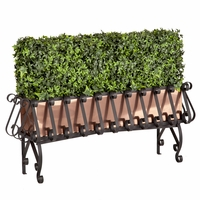 Ivy Hedge in Real Copper-Lined European Iron Planter