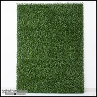 Plush Japanese Boxwood Indoor Artificial Living Wall 96inL x 60inH