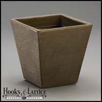 Jardin 14in. Tapered Square Planter - Antique Bronze