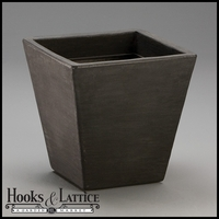 Jardin 14in. Tapered Square Planter - Caviar Black