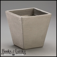 "Jardin 14"" Tapered Square Planter - Pewter"