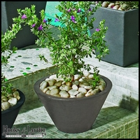 Jardin 16in. Tapered Round Planter - Pewter