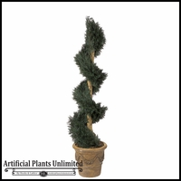 6' Juniper Artificial Spiral Topiary - Outdoor