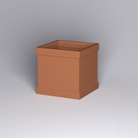 Knox Fiberglass Square Planter