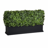 48in. Laguna Fiberglass Planter with Outdoor Artificial Hedge