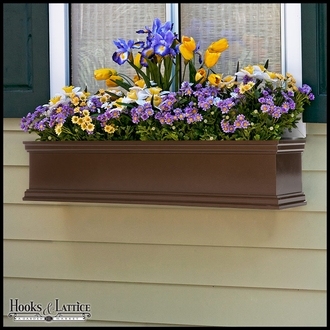 72in. Laguna Self-Watering Fiberglass Window Box