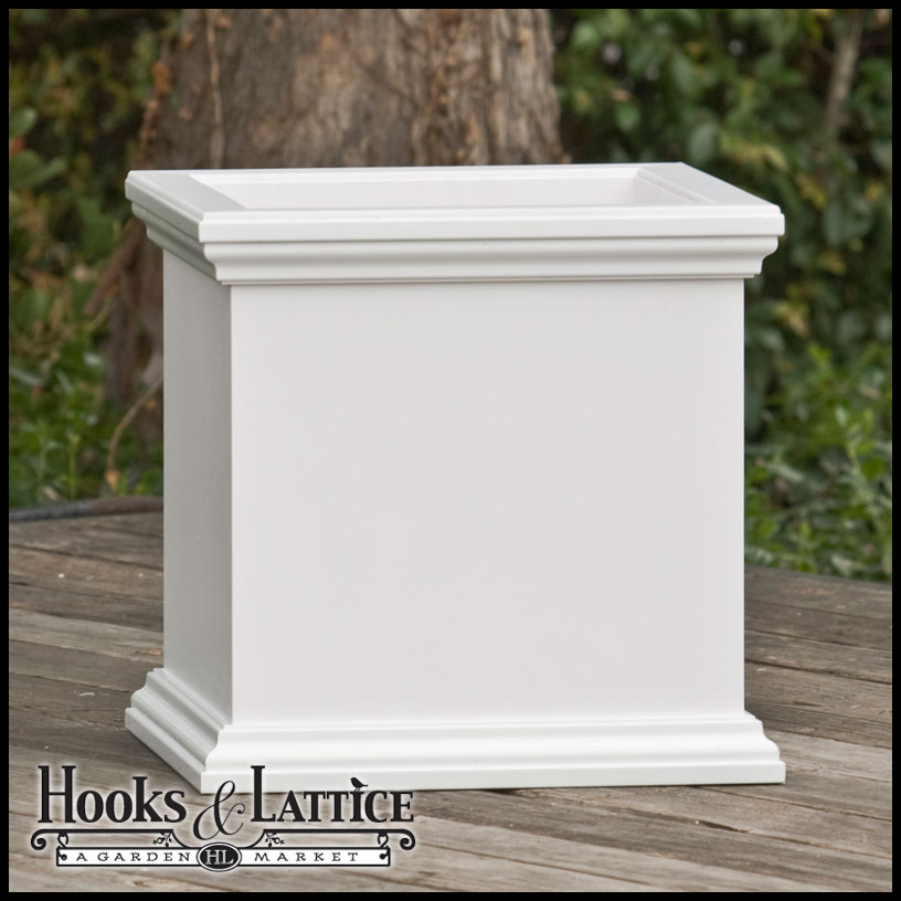 Composite Pvc Planter Boxes For Decks And Patios: Composite PVC Planter Box, Square Planter Box, Rot-Proof