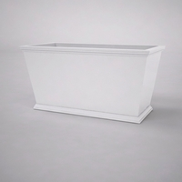 Laguna Tapered Premier Composite Commercial Planter 48in.L x 24in.W x 24in.H