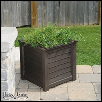 Lakeview 20in. Square Patio Planter - Espresso