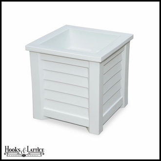 Lakeview 20in. Square Patio Planter - White