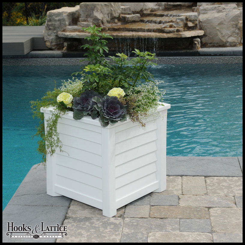 Delicieux Square Patio Planter   White Click To Enlarge