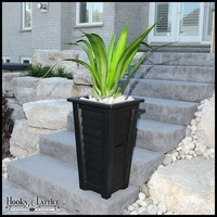 Lakeview 28in. Tall Tapered Planter