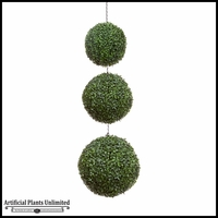 Large 3 Ball Hanging Topiary Spheres, Outdoor Rated