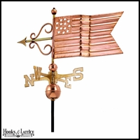 Large American Flag Weathervane
