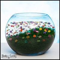 Large Bowl Terrarium - Rainbow Flowers