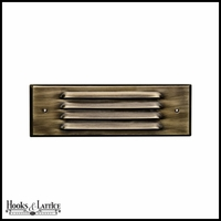 Large Louvered Face Style Recessed LED Step Lights - Multiple Color Options